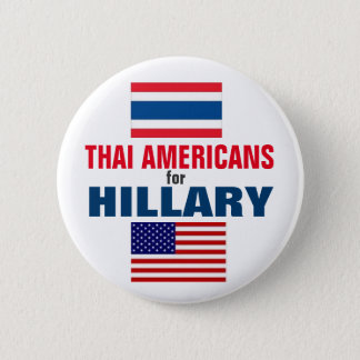 Badge Rond 5 Cm Américains thaïlandais pour Hillary 2016