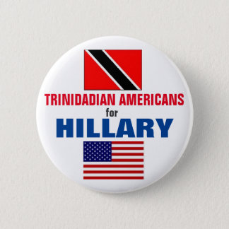 Badge Rond 5 Cm Américains trinidadiens pour Hillary 2016