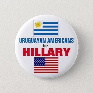 Badge Rond 5 Cm Américains uruguayens pour Hillary 2016