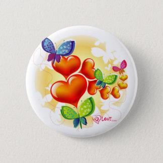 Badge Rond 5 Cm Amitié douce mignonne d'amour d'été de Colorfull