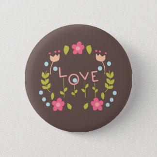 Badge Rond 5 Cm Amour