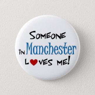 Badge Rond 5 Cm Amour de Manchester