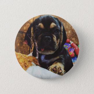 Badge Rond 5 Cm Amour de Puggle