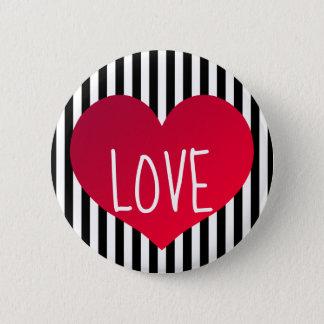 Badge Rond 5 Cm Amour rouge de coeur