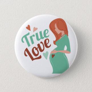 Badge Rond 5 Cm Amour vrai
