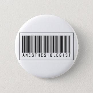 Badge Rond 5 Cm Anesthésiste de code barres