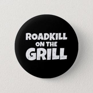 Badge Rond 5 Cm Animal tué sur une route sur le gril - partie de