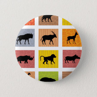 Badge Rond 5 Cm Animaux africains