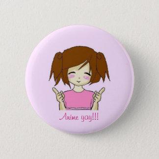 Badge Rond 5 Cm Anime yay ! ! bouton