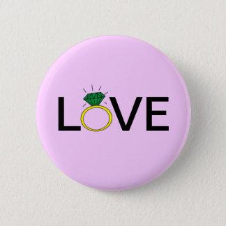 Badge Rond 5 Cm Anneau d'amour