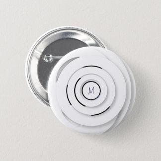 Badge Rond 5 Cm Anneaux blancs de recouvrement - faux 3D - bouton