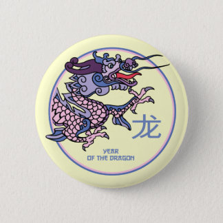 Badge Rond 5 Cm Année chinoise des boutons de cadeau de dragon