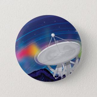 Badge Rond 5 Cm Antenne observant le ciel avec une aurore