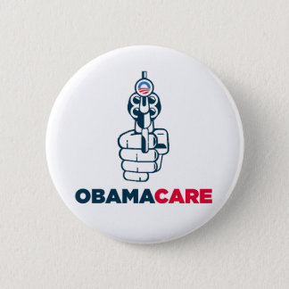 Badge Rond 5 Cm Anti bouton d'Obamacare