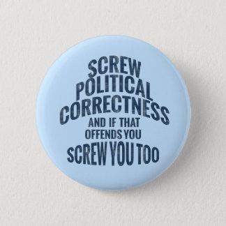 Badge Rond 5 Cm Anti boutons d'exactitude politique