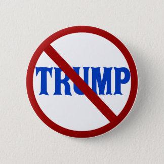 Badge Rond 5 Cm Anti cercle rouge X de Donald Trump