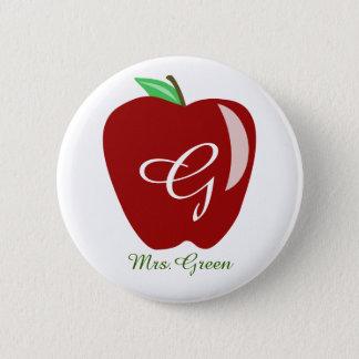Badge Rond 5 Cm Apple brillant du professeur