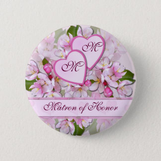 Badge Rond 5 Cm APPLE FLEURISSENT bouton de dame de honneur de ~