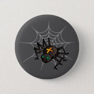 Badge Rond 5 Cm Araignée et standard Web 2 bouton rond de 1/4