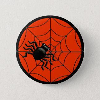 Badge Rond 5 Cm Araignée Halloween