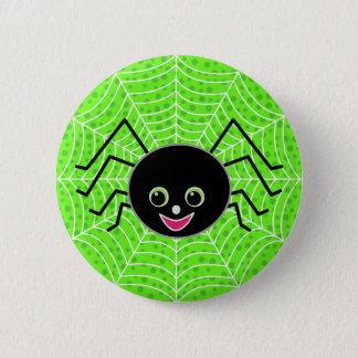 Badge Rond 5 Cm Araignée mignonne sur le Web