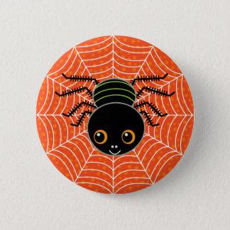 Badge Rond 5 Cm Araignée sur le Web