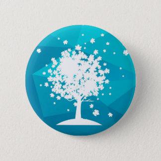 Badge Rond 5 Cm arbre bleu abstrait - beau bouton
