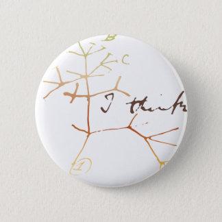 Badge Rond 5 Cm Arbre de Darwin de la vie : Je pense