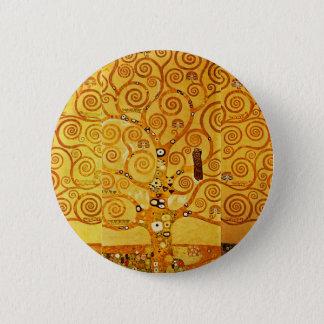 Badge Rond 5 Cm Arbre de Gustav Klimt d'art Nouveau de la vie
