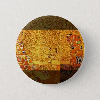 Badge Rond 5 Cm Arbre de Gustav Klimt de copie d'art de Nouveau