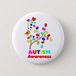 Badge Rond 5 Cm Arbre de sensibilisation sur l'autisme