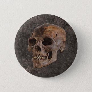 Badge Rond 5 Cm Archéologie II - Crâne sur l'arrière - plan de
