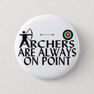 Badge Rond 5 Cm Archers sur le point