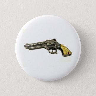 Badge Rond 5 Cm Arme à feu de jouet en métal