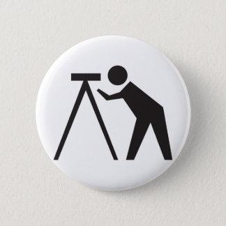 Badge Rond 5 Cm Arpenteur au travail