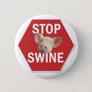 Badge Rond 5 Cm Arrêtez le bouton de porcs