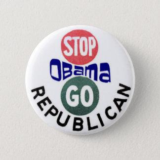 Badge Rond 5 Cm Arrêtez le bouton d'Obama 2012