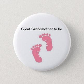 Badge Rond 5 Cm Arrière grand-mère à être