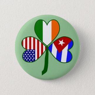Badge Rond 5 Cm Arrière - plan cubain de vert de shamrock