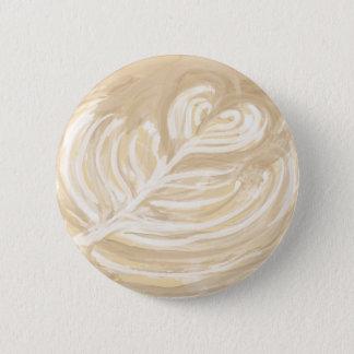 Badge Rond 5 Cm art de coeur de café