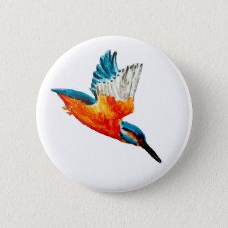Badge Rond 5 Cm Art de martin-pêcheur de vol