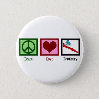 Badge Rond 5 Cm Art dentaire d'amour de paix