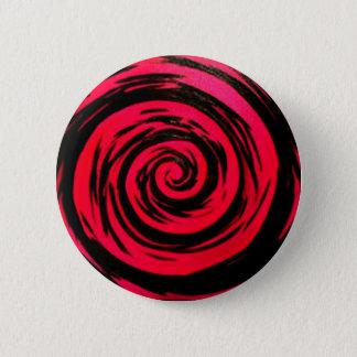 Badge Rond 5 Cm Art hypnotique rouge génial de remous