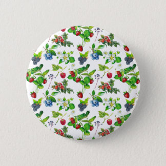 Badge Rond 5 Cm Art mignon de cottage de forêt de ressort de