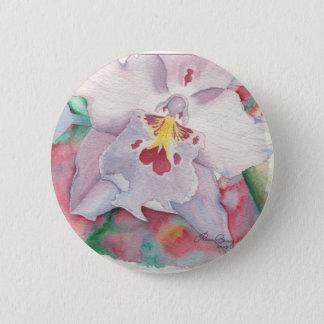 Badge Rond 5 Cm Art original d'orchidée décoratif
