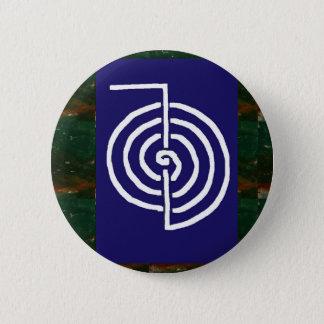 Badge Rond 5 Cm Art symbolique : Reiki Chokurai