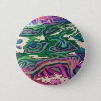 Badge Rond 5 Cm Art topographique II de papier de soie de soie