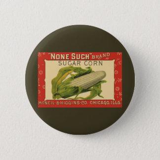 Badge Rond 5 Cm Art végétal vintage d'étiquette, aucun un tel maïs