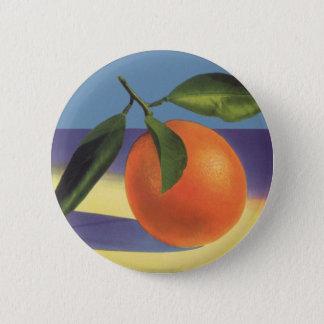 Badge Rond 5 Cm Art vintage d'étiquette de caisse de fruit,