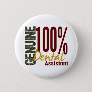 Badge Rond 5 Cm Assistant dentaire véritable